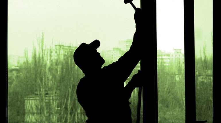 Installing window in silhouette
